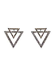 Women's Girls' Stud Earrings Jewelry Unique Design Rhinestone Tag Geometric Euramerican Statement Jewelry Classic Fashion Personalized