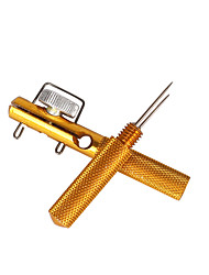 Anmuka 3Pcs High Quality Aluminum Alloy Fishing Line Knotter Fishhooks Tie Device Sub-line Tier Small Hooks Fishing Tool