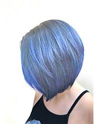 racines noires de style chaud rose deux tons OMBRE cheveux style bob natual avec une frange droite perruques de capless synthétiques