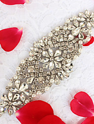 Alloy Wedding Party/ Evening Dailywear Sash-Beading Rhinestone Beading Rhinestone