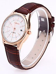 Men's Women's The Scale Imitation Leather Watch Band Decorates The Metallic Fashion Calendar Quartz Watch