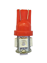 10pcs t10 5 * 5050 smd conduit voiture ampoule rouge lumière dc12v