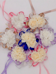 Wholesale 10 pcs/lot Wrist Corsage Bridesmaid Sisters Hand Flowers Artificial Bride Flowers For Wedding Party Decoration