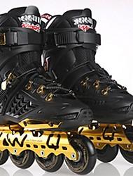 Men's Women's Adults' Inline Skates Wearable Wearproof Comfortable Gold/Black