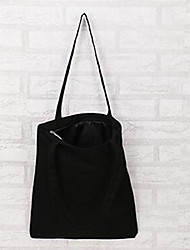 Women Canvas Casual Shoulder Bag Black White
