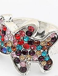 Han Edition Fashion Multicolor Adorable Bear Ring