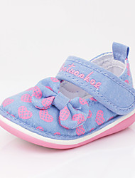 Kids' Baby Loafers & Slip-Ons First Walkers Fabric Spring Fall Casual First Walkers Flat Heel Dark Blue Fuchsia Light Blue 1in-1 3/4in