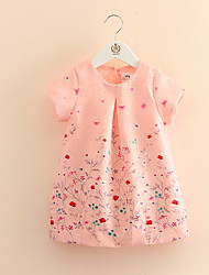 Floral Short-sleeved Children's Princess Dress Children's Wear Clothes Summer 2017 Girls' Baby Sleeveless Vest Dress Skirt Gift