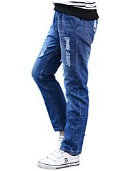 Jungen Jeans Einheitliche Farbe Baumwolle Sommer Ganzjährig