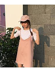 Feminino Blusa Vestidos Conjuntos Verão Com Alças Sem Manga strenchy