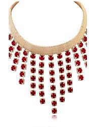 Exaggerated Tassel Rhinestone Necklaces Statement Jewelry USA Long Choker Pendant Sweater Chain Necklace