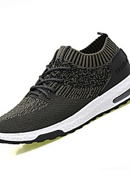 Men's Athletic Shoes PU Spring Summer Low Heel Black Green Under 1in