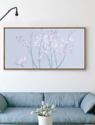 Floral/Botanical 3D Framed Art Wall Art PVC Material Brown No Mat With Frame For Home Decoration Frame Art