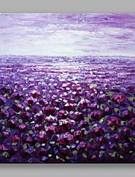 Pintada a mano Floral/BotánicoModerno / Contemporáneo Flor Arte Decorativa/Retro Un Panel Lienzos Pintura al óleo pintada a colgar For