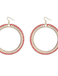 Europe and the United States big exaggerated personality contracted woven big earrings
