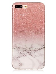 Para iPhone X iPhone 8 Carcasa Funda IMD Cubierta Trasera Funda Mármol Suave TPU para Apple iPhone X iPhone 8 Plus iPhone 8 iPhone 7 Plus