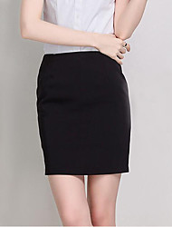 Women's Vacation Saia Faldas Pencil Skirt Elegant OL Work Wear