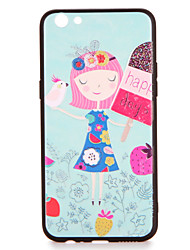 Pour le modèle de couverture de casse-tête de l'inverse r9s back cover case gril cartoon hard pc r9 r9 plus