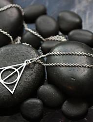 Fashion (Triangle Shape) Silver Alloy Pendant Necklace