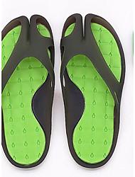 Masculino Chinelos e flip-flops Conforto Borracha Couro Ecológico Primavera Casual Conforto Rosa e Branco Preto/Verde Branco e Verde