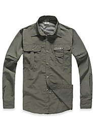 Men's Hiking Shirt Quick Dry Ultraviolet Resistant Breathable Coverall for S M L XL XXL