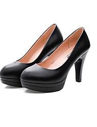 Для женщин Обувь на каблуках Удобная обувь Формальная обувь Кожа Весна Осень Повседневные Удобная обувь Формальная обувьНа толстом