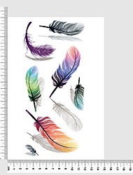 Temporary Tattoos Leg Body Romantic Series 3D Waterproof Tattoos Stickers Non Toxic Glitter Large Fake Tattoo Body Jewelry Halloween Gift 22*15cm