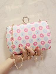 Women Shoulder Bag PU All Seasons Casual Date Baguette Magnetic Pale Blue Pale Pink
