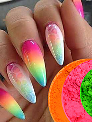 1g/Bottle Fashion Nail Art Neon Power Candy Color Pigment Magic Neon Effect Power Nail Fluorescent DIY Beauty Decoration YE