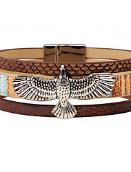 Men's Leather Bracelet Fashion Vintage Punk Hip-Hop Rock Costume Jewelry Leather Alloy Circle Round Geometric Jewelry For Party