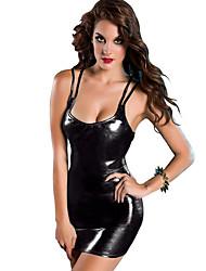 Moulante Robe Femme Scène Natation Sexy,Couleur Pleine U Profond Mini Sans Manches Autres Printemps Eté Taille Normale Micro-élastique