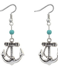 Euramerican Fashion Vintage Personalized Ship Anchor Alloy  Earrings Lady Daily Drop Earrings Movie Jewelry