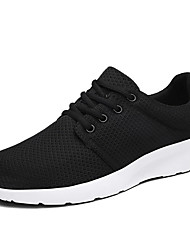 Men's Sneakers Light Soles Fabric Spring Summer Casual Light Soles Green Gray Black White Flat