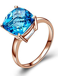 May Polly   Natural Color Gemstone micro zircon fashion ring