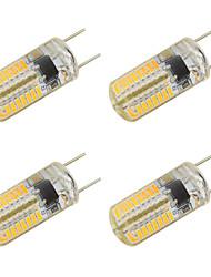 3W Luces LED de Doble Pin T 64 SMD 3014 260 lm Blanco Cálido Blanco Fresco V 4 piezas