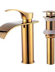 Contemporain Set de centreSoupape céramiqueRobinet lavabo