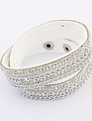 Women's Wrap Bracelet Jewelry Fashion Bohemian Rhinestone Glass Alloy Irregular Jewelry For Party Special Occasion Gift