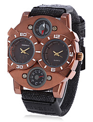 Homens Adulto Relógio Esportivo Relógio de Moda Relógio de Pulso Único Criativo relógio Chinês QuartzoCompass Calendário Impermeável Punk