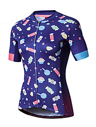 Cycling Jersey Women's Short Sleeve Bike Jersey 100% Polyester Fashion Spring Summer Leisure Sports Backcountry