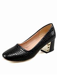 Для женщин Обувь на каблуках Мода Дерматин Весна Осень День рождения Вечерние Повседневные Мода На толстом каблуке Белый Черный Красный