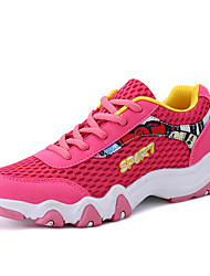 Feminino Tênis Conforto Solados com Luzes Tule Primavera Verão Outono Ar-Livre Casual Para Esporte Corrida Cadarço Rasteiro AnabelaFúcsia