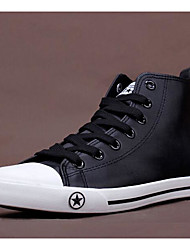 Men's Sneakers Comfort Canvas Spring Casual White Black Blue Flat