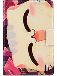 Pour apple ipad mini housse casque 3/2/1 avec stand auto sommeil / réveil flip motif magnétique corps plein carré chat carré dur pu cuir