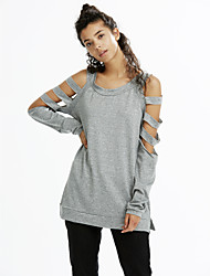 Women's Off The Shoulder|Cut Out Cold Shoulder Hollow Out Long Sleeve Top