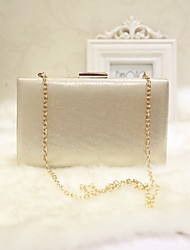 Women Evening Bag PU All Seasons Event/Party Casual Party & Evening Club Baguette Magnetic Silver Gold