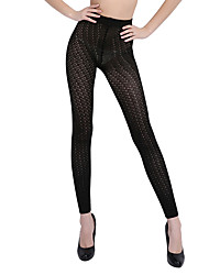 BONAS Black Hollow Tights For Women Hosiery Cashmere Lolita Tights