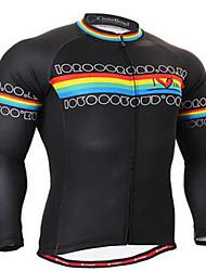 Homme Vélo Vêtements de Compression/Sous maillot Cyclisme Spandex Rayé Automne Cyclotourisme Noir