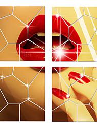 Зеркала Геометрия 3D Наклейки 3D наклейки Зеркальные стикеры Декоративные наклейки на стены,Акрил материал Украшение домаНаклейка на