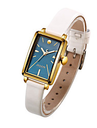 Women's Fashion Watch Quartz Water Resistant / Water Proof Leather Band Casual Black White Orange Brown Rose