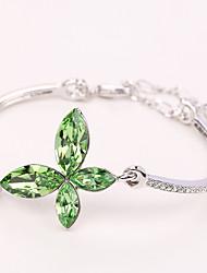 Mulheres Bracelete Jóias Natureza Moda Vintage Confeccionada à Mão Cristal Liga Jóias Para Casamento Festa Aniversário Reunião de Classe